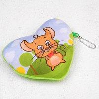 Мягкий кошелёк 'Мышонок в бабочке', сердечко (комплект из 12 шт.)