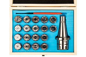 Патрон цанговый NT40ER32 хвостовик конус 7:24 DIN2080 с набором цанг 18 шт., 3-20 мм GRIFF b221423