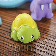 Набор резиновых игрушек с сачком для купания, фото 2