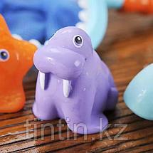 Набор резиновых игрушек с сачком для купания, фото 3