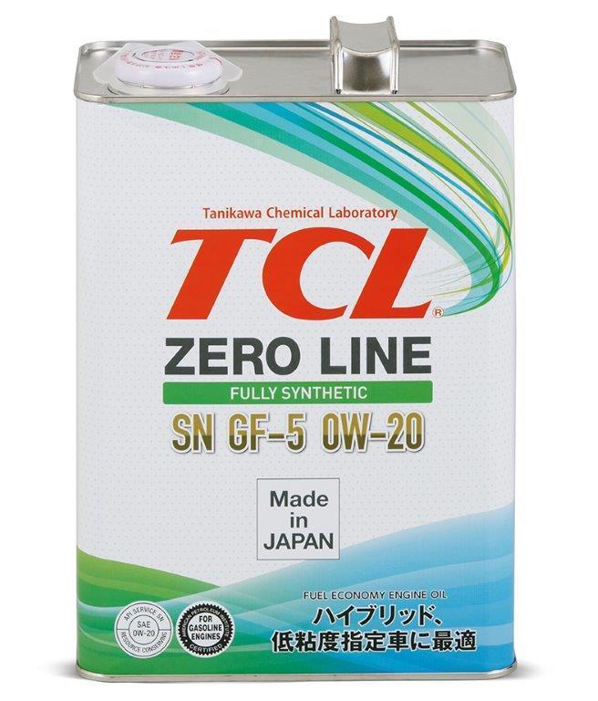 Японское моторное масло TCL Zero Line 0W-20 SN, GF-5 4L