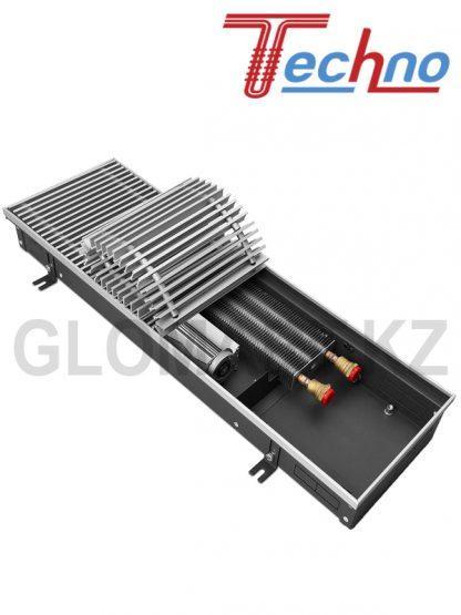 Водяной внутрипольный конвектор Techno KVZV 250*85*1800 с вент. (Техно)