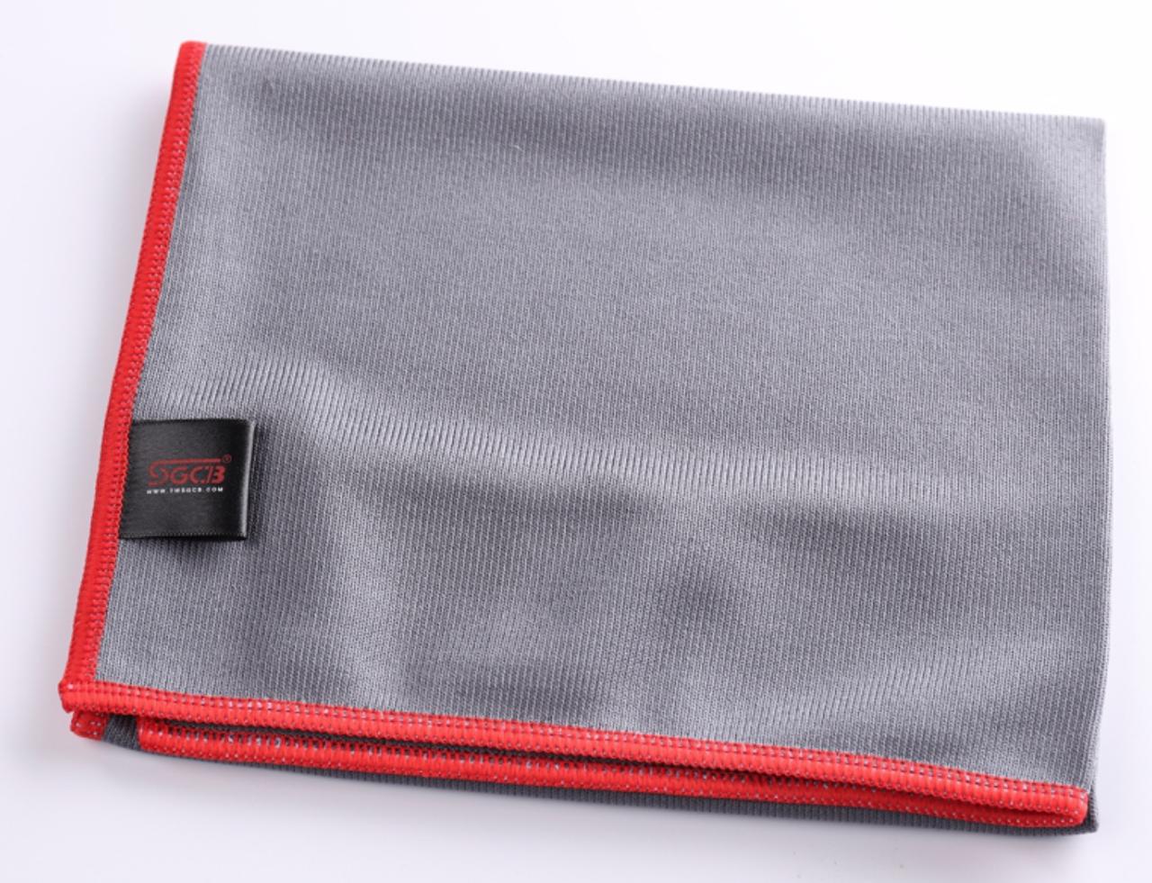 Микрофибра для протирки стекол SGCB Glass Microfiber Towel 40*40см 300 г/м2 серая