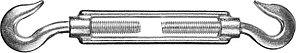 Талреп Stayer Master 30525-08 (крюк-крюк, оцинкованный, М8, DIN 1480, 10 шт)
