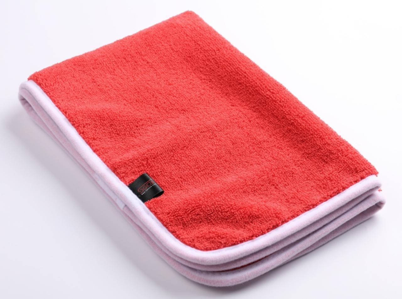 Микрофибра для располировки составов SGCB Miracle Cobra Towel 40*60см 380 г/м2 красная