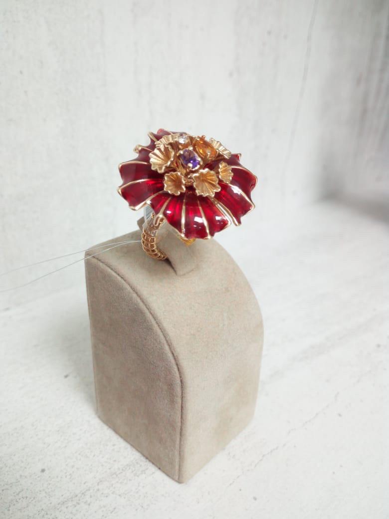 Кольцо с бриллиантами / Roberto Bravo / 17,5 размер