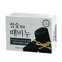 Отшелушивающее мыло Lu'sob Charcoal Stain Remover Soap c древесным углем и АНА-кислотами.