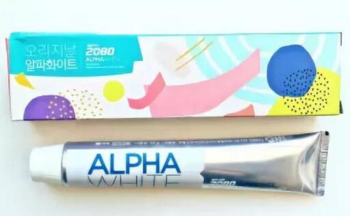 2080 alpha white toothpaste 90g зубная паста с отбеливающим эффектом 90гр