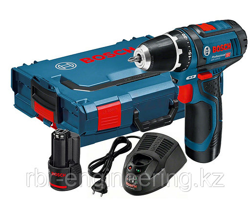 Шуруповерт аккумуляторный, Bosch GSR 12V-20, Professional (2 акк 2.0 Ач) в L-Boxx, фото 2