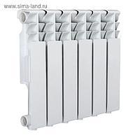 Радиатор Tropic 350x80 мм алюминиевый, 6 секций