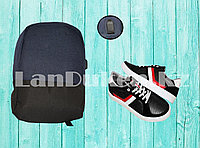 Городской рюкзак с USB портом, синий с черным