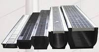 Лоток пластиковый с оцинкованной решеткой 13,5х14,5 см 1 м/ GIDROLIKA