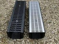 Лоток пластиковый с оцинкованной решеткой 12,5х16 см 1 м/ STANDART PARK