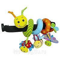 BIBA TOYS Развивающая игрушка спираль ГУСЕНИЦА И ДРУЗЬЯ 39*31*38 см