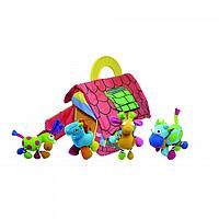 BIBA TOYS Развивающая игрушка-подвеска ФЕРМЕРСКИЙ ДОМ с животными 4шт. 62*46*24 см