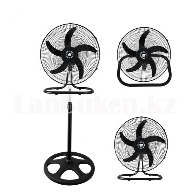 Вентилятор электрический Crown 1805 3 в 1 напольный, настольный и настенный
