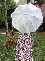 Зонт механический серый