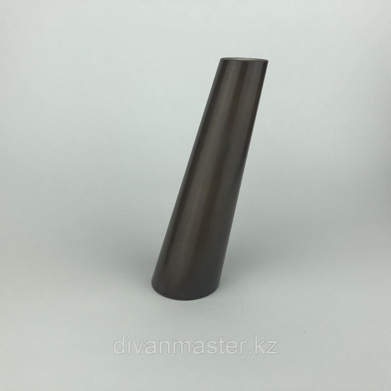 Ножка мебельная, деревянная, конус с наклоном 18 см