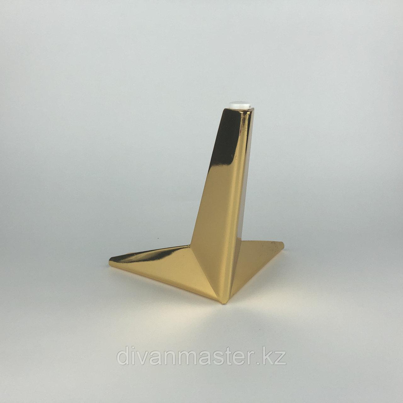 Ножка стальная с наклоном, для диванов и кресел 17, золото
