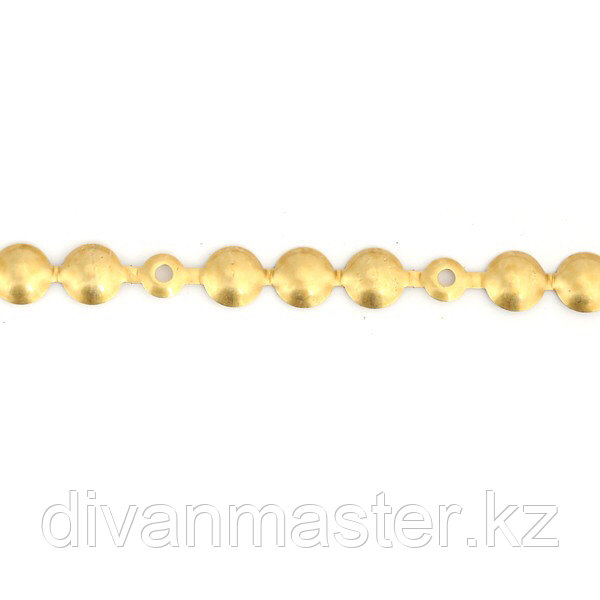 Гвоздевая лента 11 мм, античное золото - 10 метров, Турция.
