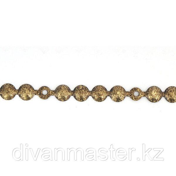 Гвоздевая лента 11 мм, античная бронза - 10 метров, Турция