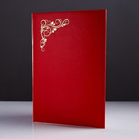 Папка адресная 'Виньетка' бумвинил, мягкая, красный, А4