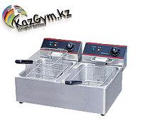 Фритюрница настольная электрическая HX-6L-2 (560х440х320мм, 2х6 л, 2,5кВт+2,5кВт, 220В) 2 емкости