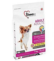 1st Choice гипоаллергенный сухой корм для собак декоративных и мелких пород (с ягненком и рыбой)  350 гр., фото 1