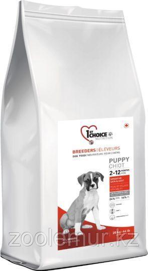 1st Choice Puppy сухой корм для здоровья кожи и шерсти щенков (с ягненком, рыбой и рисом) 20 кг