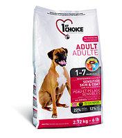 1st Choice Adult гипоаллергенный сухой корм для собак (с ягнёнком, рыбой и рисом)  2,72 кг., фото 1