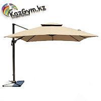 Зонт Banana Lux квадратный с вентиляцией (2.5х2.5м), песочный, фото 1
