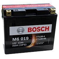 Мотоциклетный аккумулятор (12А/ч 12V) AGM Bosch M6 019 YT12B-BS