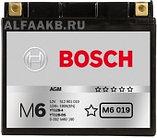Мотоциклетный аккумулятор (12А/ч 12V) AGM Bosch M6 019 YT12B-BS, фото 3