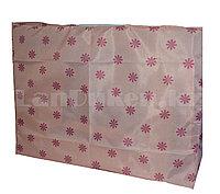 Органайзер для хранения вещей 26х70 см, коробка тканевая для хранения персиковый с цветочным принтом