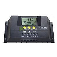 Контроллер заряда JUTA CM3024Z 30А  (12В,24В) LCD