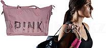 Сумка спортивная дорожная с большой ёмкостью с плечевыми ремнями 40*31*24 см, розовая PINK