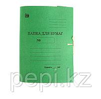 Папка с завязками 370гр цветный зеленый