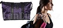 Сумка спортивная дорожная с большой ёмкостью с плечевыми ремнями 50*31*16.5 см, фиолетовая камуфляжная