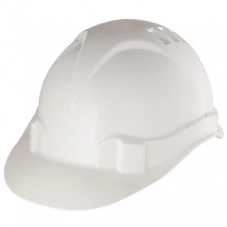 Каска защитная из ударопрочной пластмассы, белая/ CИБРТЕХ