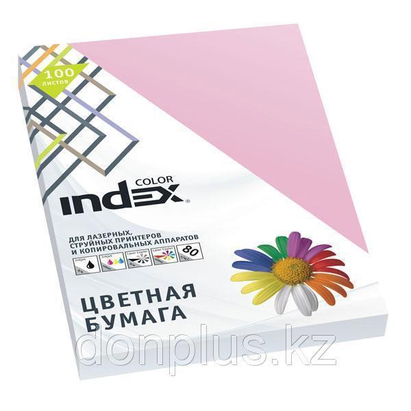 Бумага цветная INDEX Color, А4, 100 л., MIX pastel