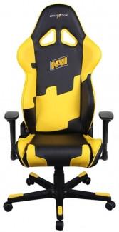 Игровое компьютерное кресло, DXRacer OH/RE21/NY NAVI (Черно-желтый)