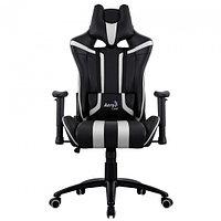 Игровое компьютерное кресло Aerocool AC 120 AIR-BW черный-белый, фото 1