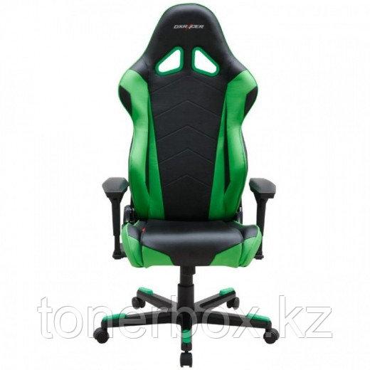 Игровое компьютерное кресло DX Racer OH/RE0/NE, черно-зеленое