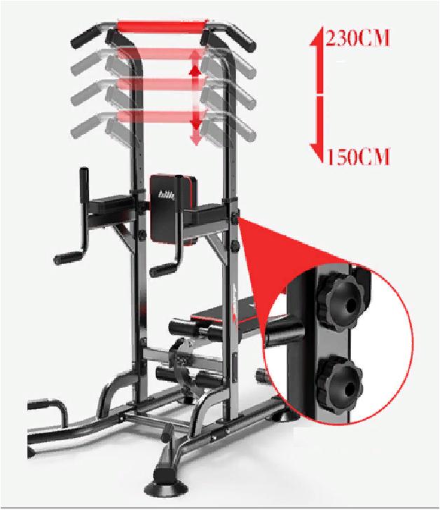 Тренажер стойка BILLNA 5 в 1 (турник-брусья-отжимания-пресс-жим лежа )вес до 150кг - фото 5