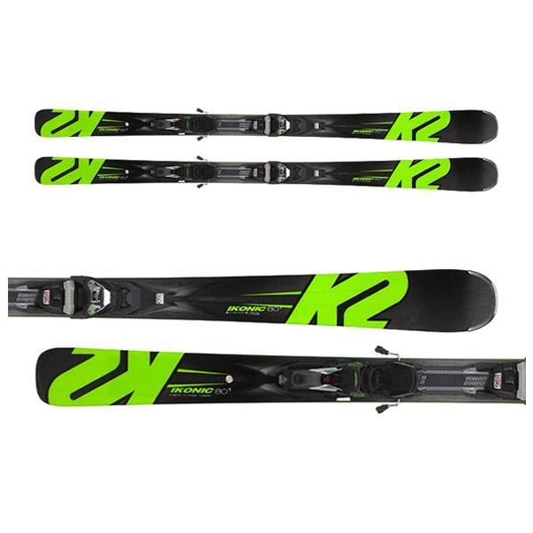 K2  лыжи горные Ikonic 80Ti MXC 12 TCX Light Quikclik black-green