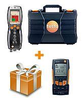 Testo Комплект Testo 330-2 LL BT с мультиметром Testo 760-2 для пусконаладки и обслуживания котлов 0563 3376