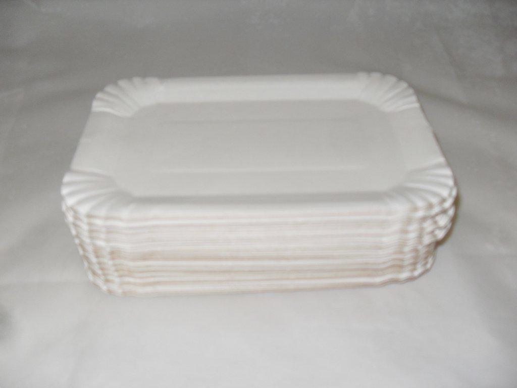 Тарелка 130х200мм толщ. 0.45мм, бел., картон, 1500 шт
