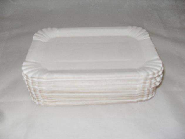Тарелка 130х200мм толщ. 0.45мм, бел., картон, 1500 шт, фото 2