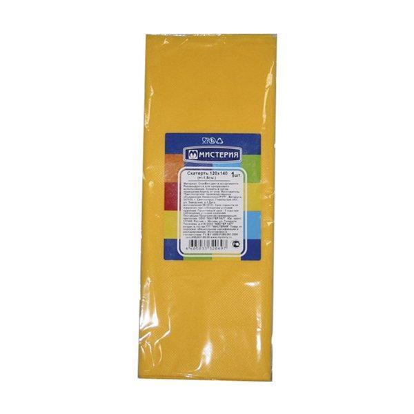 Скатерть 120х140см, жёлт., спанбонд