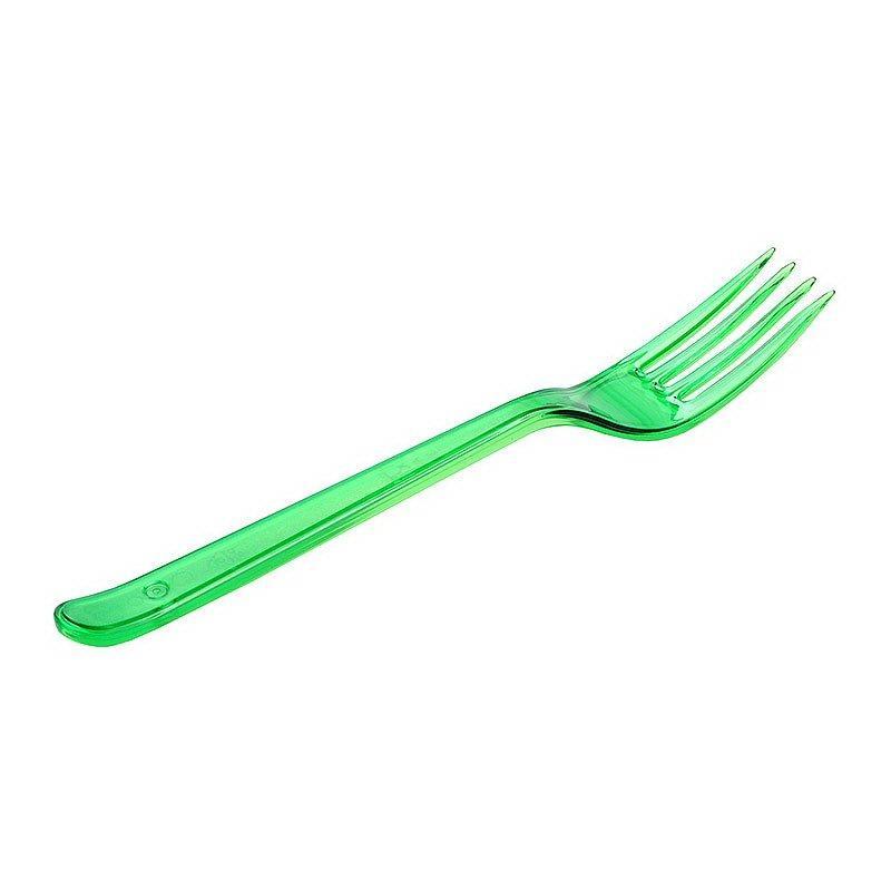 Вилка 180мм, зелён. (салат), кристалл, ПС, 900 шт